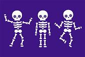 istock Cartoon dancing skeleton 1263391045