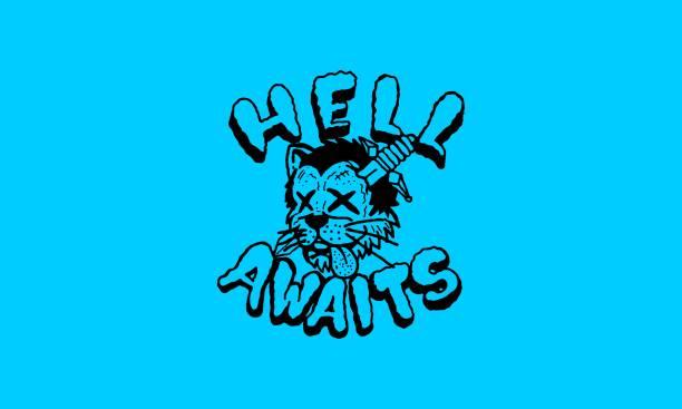 Cartoon Dead Cat T-shirt Design Illustration T-shirt Design Illustration skulls tattoos stock illustrations