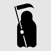 Cartoon Death with scythe icon