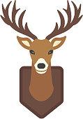 Cartoon deer head vector animal