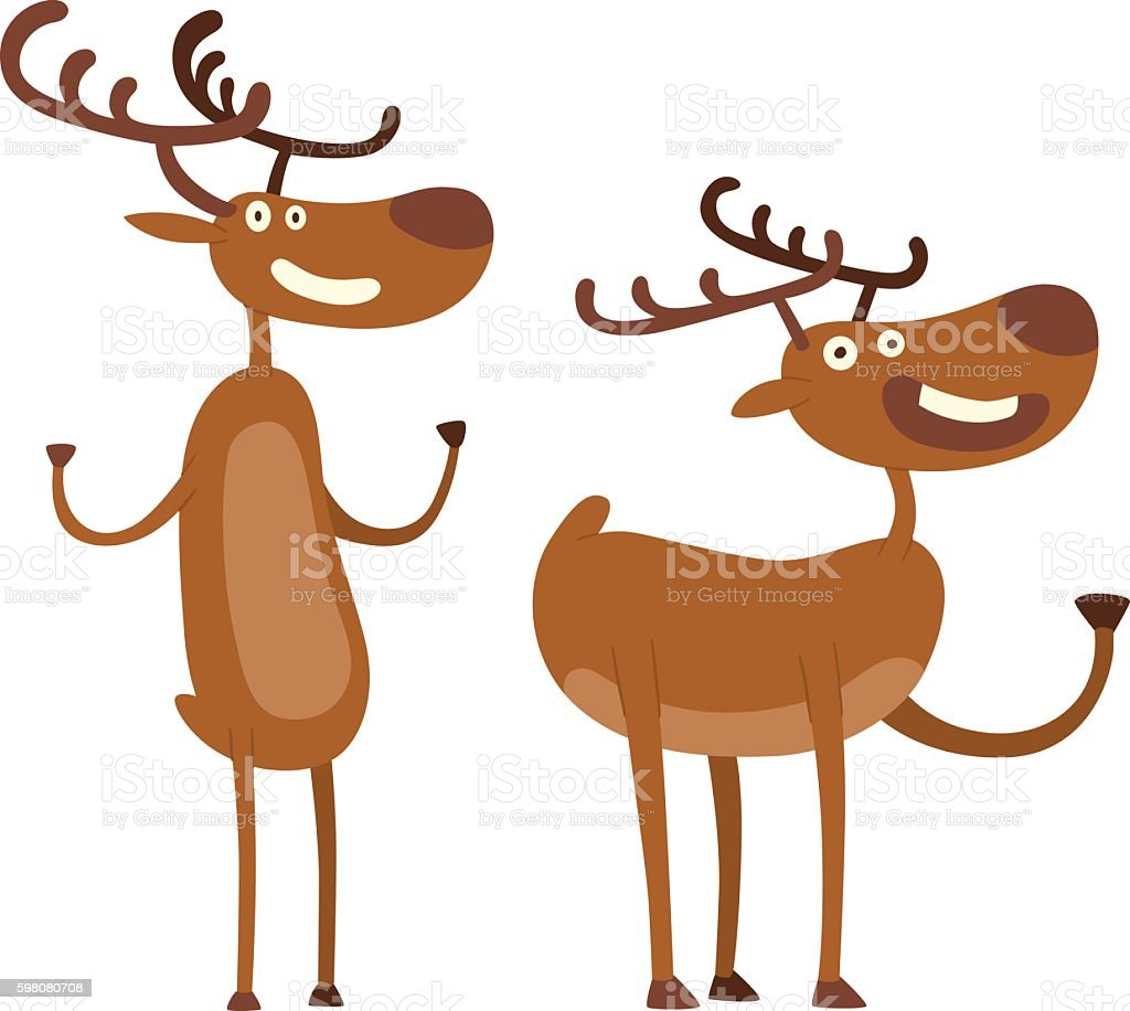 Cartoon Deer Vector Character Stock Illustration - Download