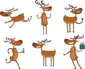 Cartoon deer vector character
