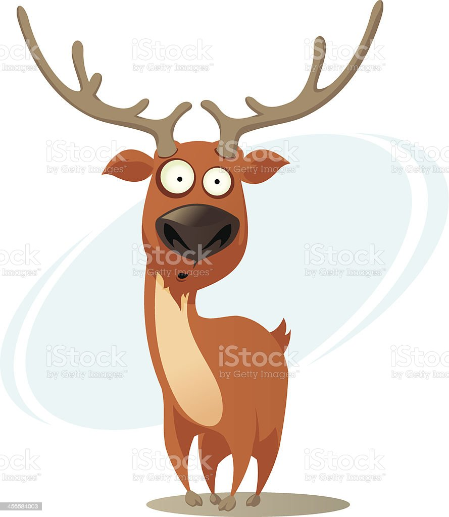 Comic deer - Lizenzfrei Bock - Männliches Tier Vektorgrafik
