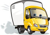 Vector illustration Cartoon delivery / cargo truck. Available EPS-8, AI-10, CDR-9, SVG vector formats