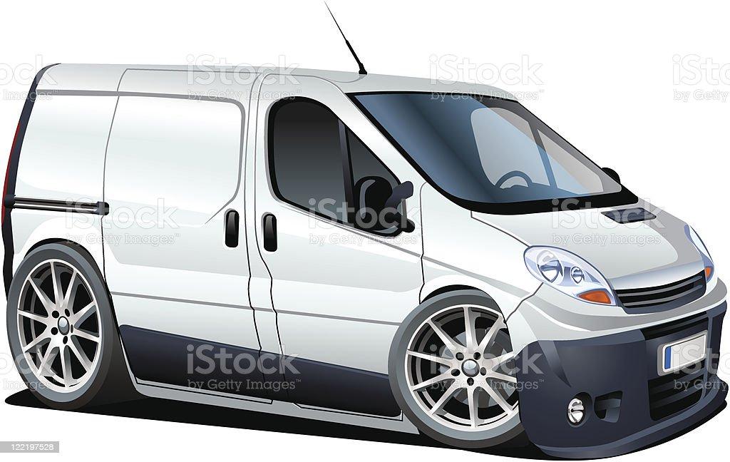 cartoon delivery / cargo van royalty-free cartoon delivery cargo van stock vector art & more images of automobile industry