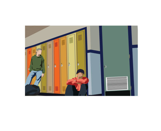 Cartoon depiction of two boys at their lockers at school A collaberation of images 939082 and 942348 to make a picture that says something. [url=http://www.istockphoto.com/file_search.php?action=file&lightboxID=7986941&refnum=rachwal81][img]http://tools.stock-board.info/lightboxes/100320-d6c1959369f064302fbbed9ba6834f28[/img][/url] absentee stock illustrations