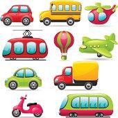 Cartoon depictions of real world transportation