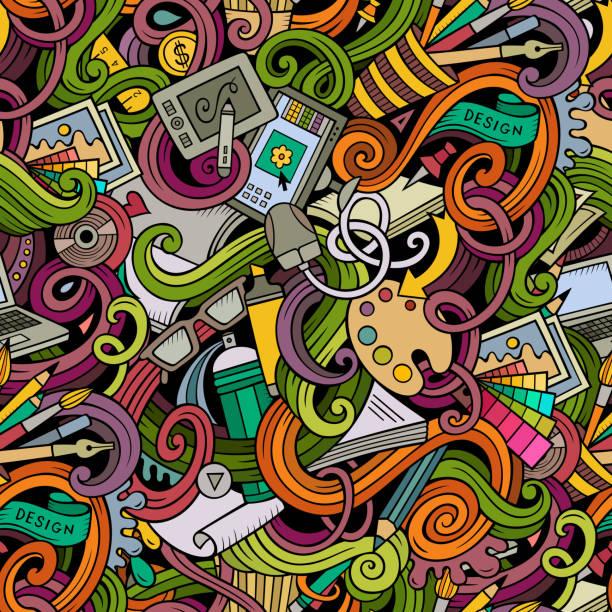 comic gestaltung und kunst und kritzeleien nahtlose musterung - computergrundlagen stock-grafiken, -clipart, -cartoons und -symbole
