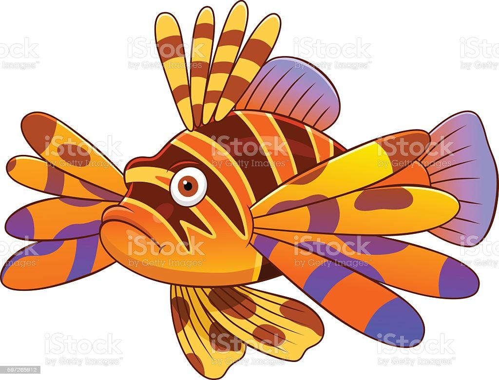 Cartoon devil firefish royalty-free cartoon devil firefish stock vector art & more images of animal