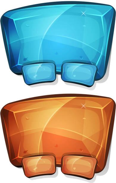 comic diamond-platte für ui-spiel - dashboard, hintergrund, hell stock-grafiken, -clipart, -cartoons und -symbole