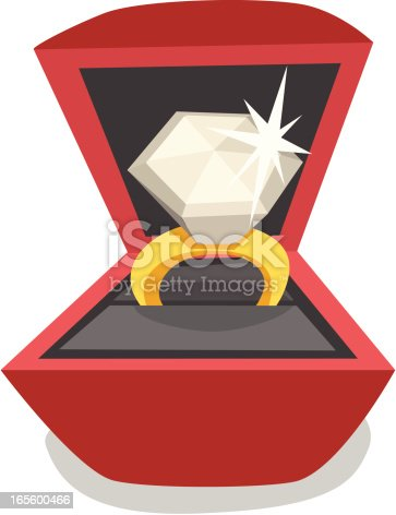 istock Cartoon Diamond Ring 165600466