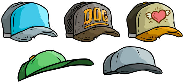 cd975440fd65e Best Dog Baseball Hat Illustrations, Royalty-Free Vector Graphics ...