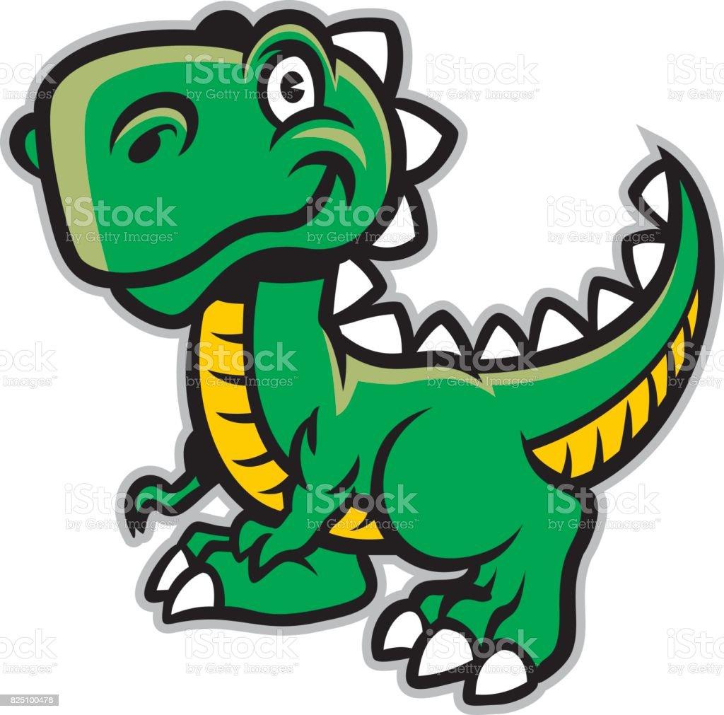 cartoon dinosaur vector art illustration
