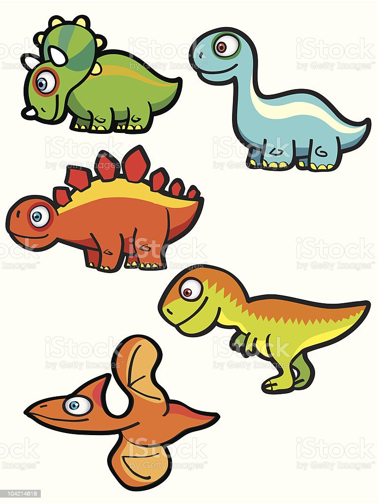 Cartoon Dinosaurs royalty-free cartoon dinosaurs stock vector art & more images of apatosaur