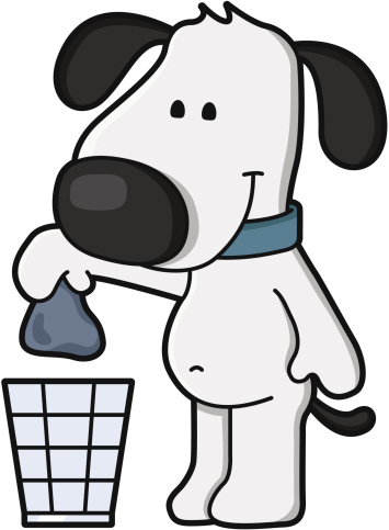 cartoon / dispose of dog waste - Clean Up
