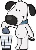 dog clean up dog waste -  doggy waste bin