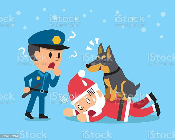 Cartoon doberman dog helping policeman to catch santa claus vector id624107244?b=1&k=6&m=624107244&s=612x612&h=pfzeq7zginfd27ql m5ncsfepdihjga8hf8r0ib6hly=