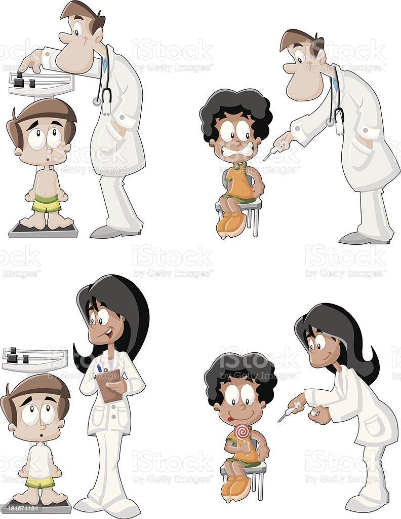 Cartoon doctors royalty-free stock vector art