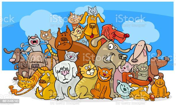 Cartoon dog and cats characters vector id881548740?b=1&k=6&m=881548740&s=612x612&h=jxuyb5aziw1lrv huhupaqjm7lkkv bngqey8n65lhe=