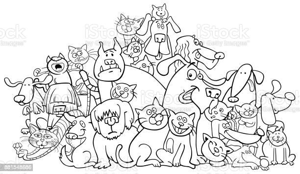 Cartoon dog and cats coloring book vector id881548686?b=1&k=6&m=881548686&s=612x612&h=0stnf e vivzbqv fj0dlvsasobcbke4jrfu3tazicy=