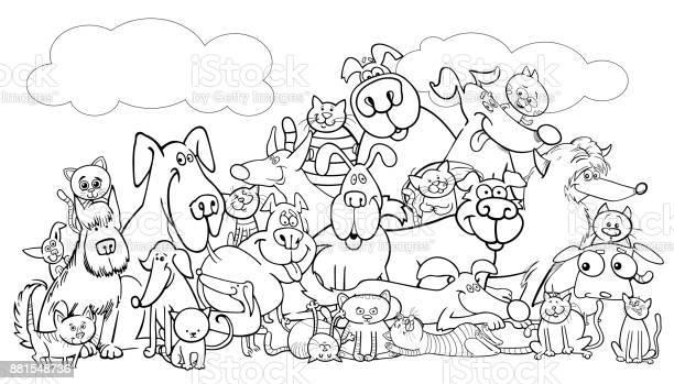 Cartoon dog and cats pet group color book vector id881548736?b=1&k=6&m=881548736&s=612x612&h=nmg9yhwqa6x3q1nbxqjeuzkrmsnm7qqws367l72ns8o=