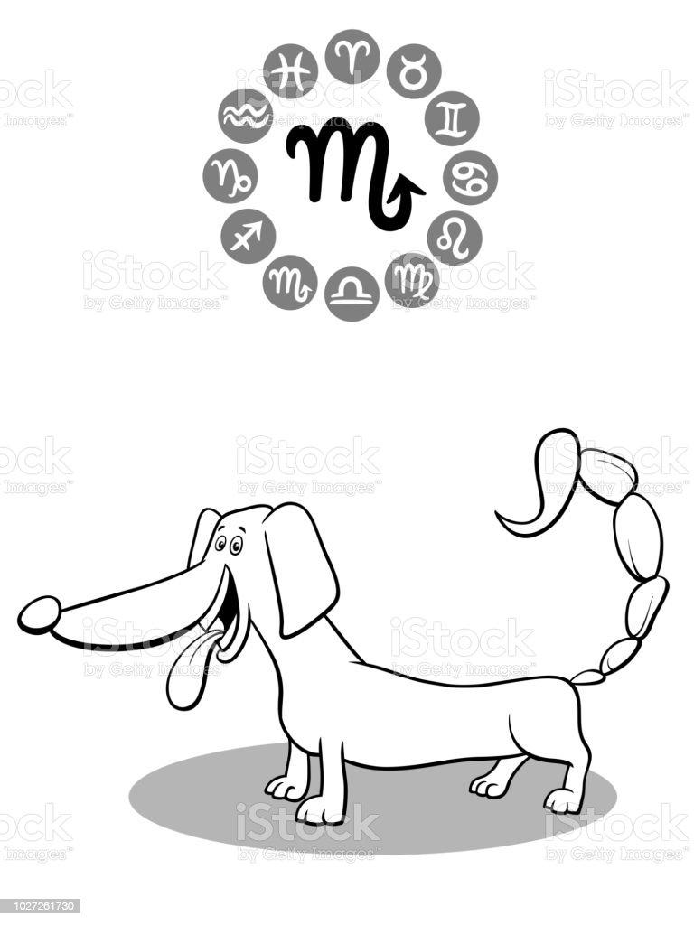 Vetores De Cao Dos Desenhos Animados Como O Signo De Escorpiao E