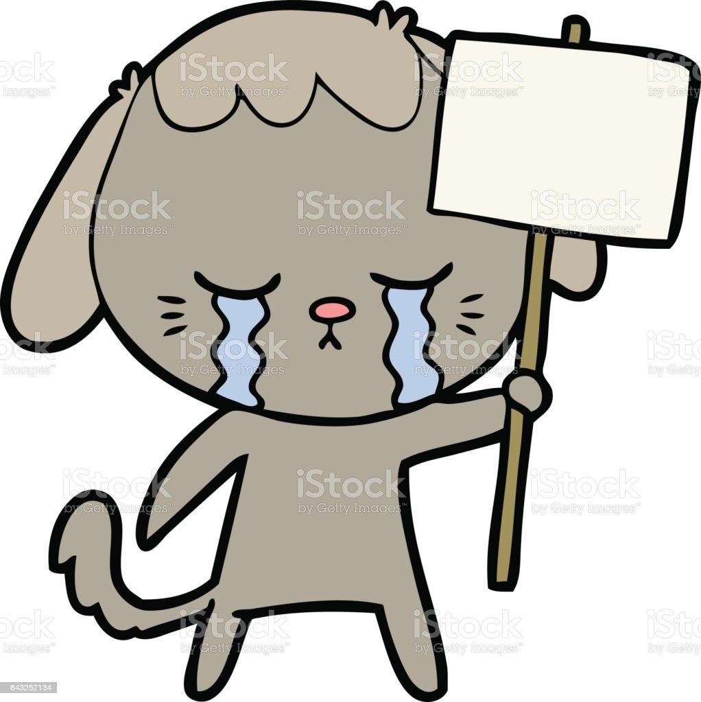 Vetores De Desenhos Animados Cachorro Chorando E Mais Imagens De