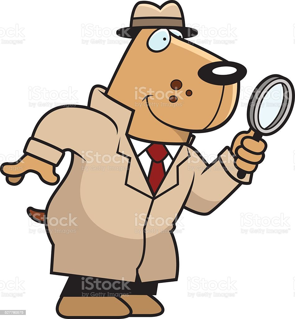 Cartoon dog detective stock vector art more images of