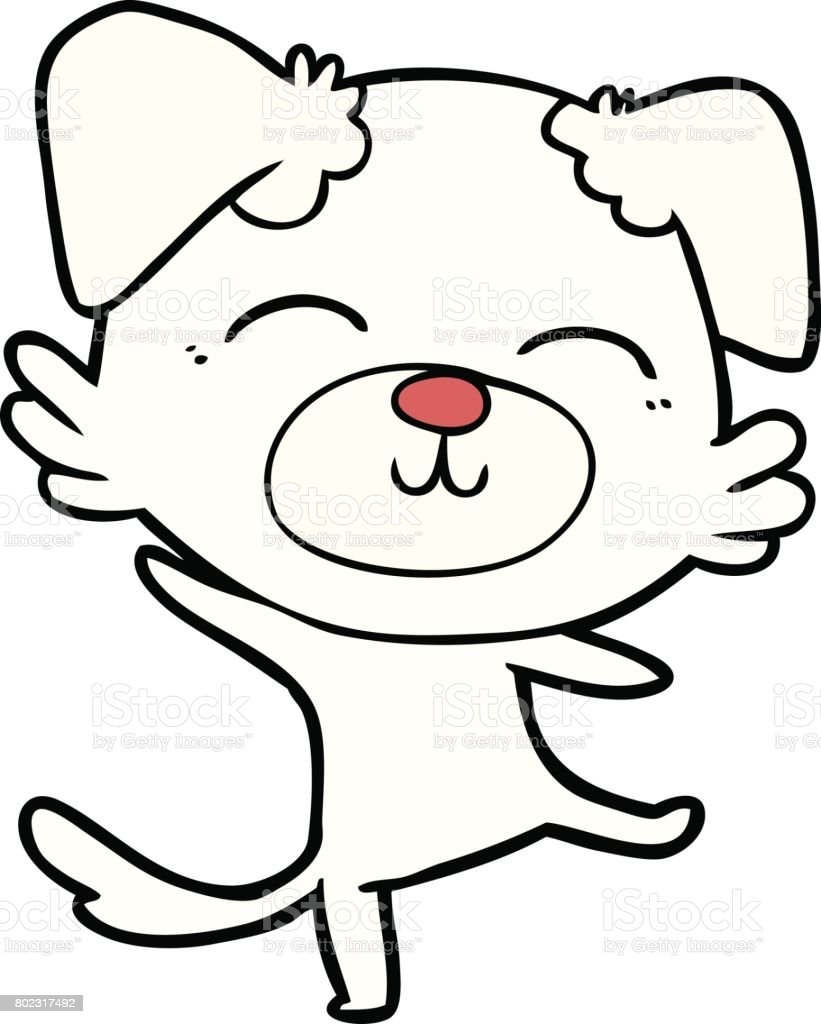 Cartoon Dog Doing A Happy Dance Stock Illustration Download Image Now Istock