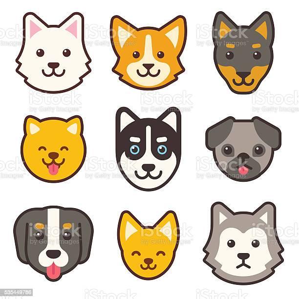 Cartoon dog faces set vector id535449786?b=1&k=6&m=535449786&s=612x612&h=893en2j4ffadjdougugsphbbepdmw2geymkadofym2e=