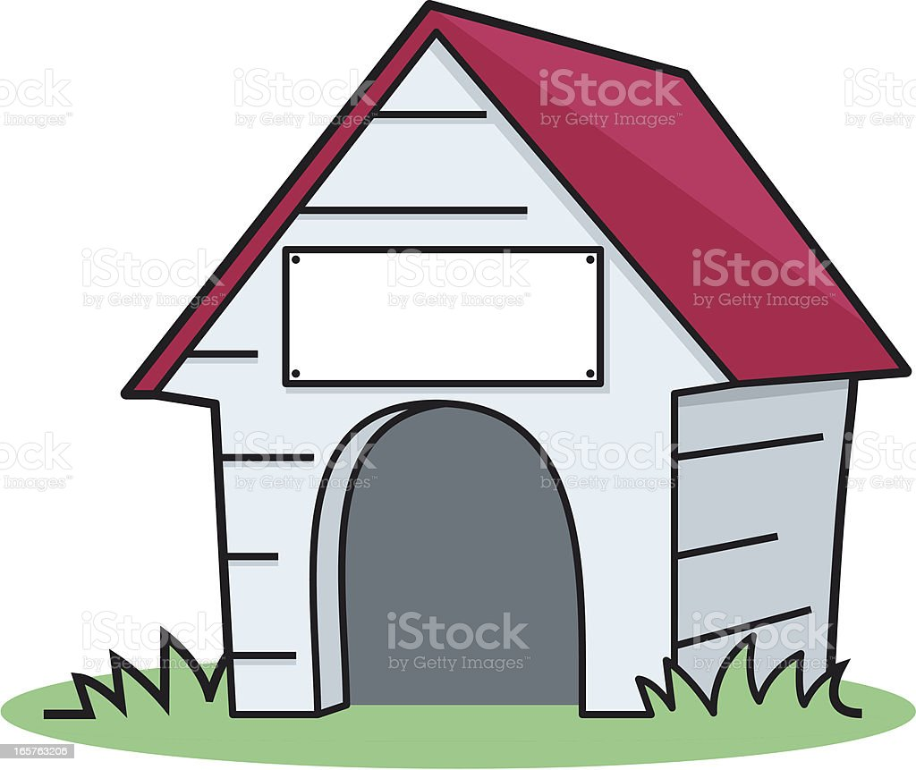 royalty free dog house clip art vector images illustrations istock rh istockphoto com Cartoon Dog House Cartoon Dog House