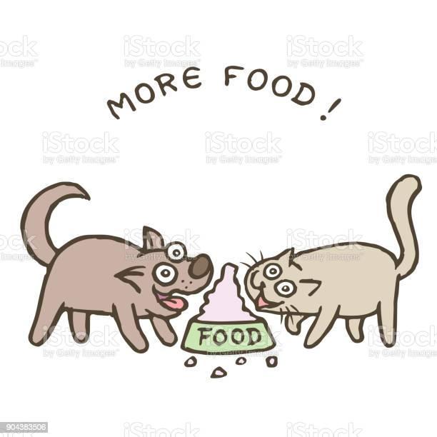 Cartoon dog kik and cat tik run to a huge bowl with a bunch of food vector id904383506?b=1&k=6&m=904383506&s=612x612&h=d5tog3anoj58cm15aq1kjsrowyb93xrxcbdgfdlzhtg=