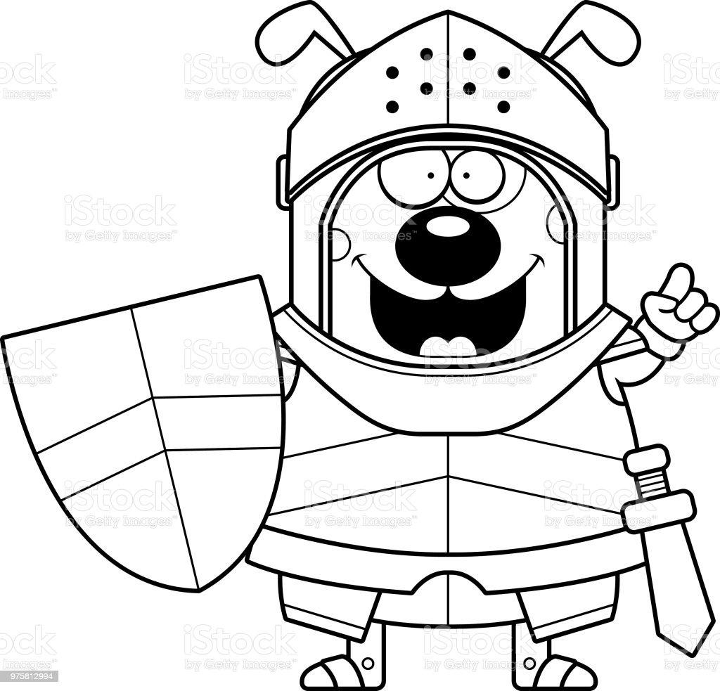 Cartoon Hund Ritter Idee - Lizenzfrei ClipArt Vektorgrafik