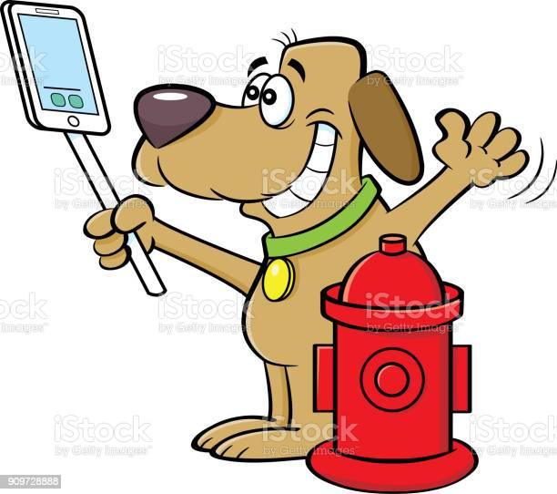 Cartoon dog taking a selfie with a fire hydrant vector id909728888?b=1&k=6&m=909728888&s=612x612&h=cnxjfly97o46tx6wymhteofhla4dlu qehxm0j717ya=