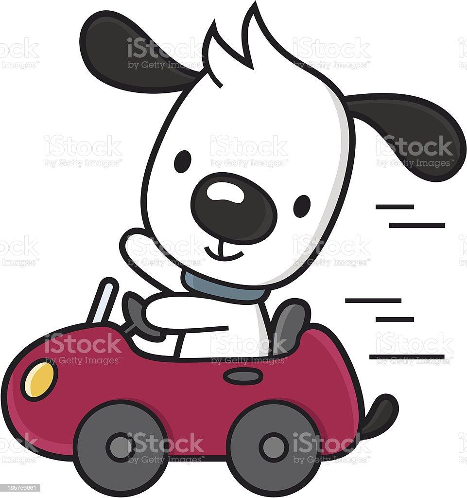 cartoon dog travel by car stock vector art 165759661 istock
