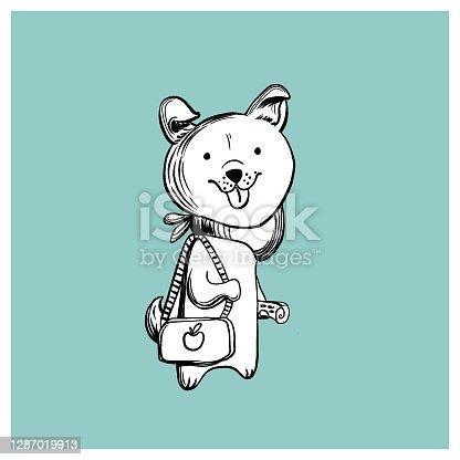 Cão de desenho animado - Ilustração vetorial
