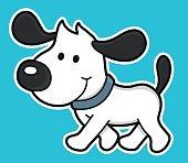 cartoon dog walking