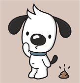 vector illustration of a dog with dog waste