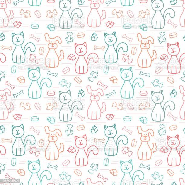 Cartoon dogs and cats vector seamless pattern colorful background for vector id915045804?b=1&k=6&m=915045804&s=612x612&h=v6nbdn9kggbfiwsxugiuzb9tt2o0nwfjlpyakrkckxi=