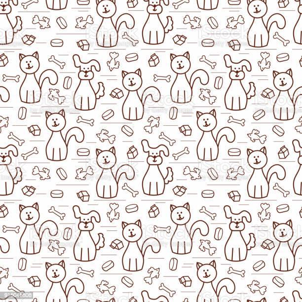 Cartoon dogs and cats vector seamless pattern colorful background for vector id915045808?b=1&k=6&m=915045808&s=612x612&h=amwurjksv3jbi3jp4waa3mjaqat5 ykrp3wdrhgutfc=