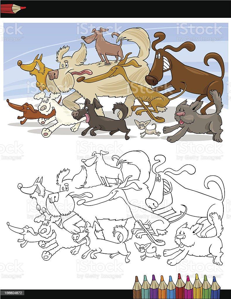 Ilustración de Perros De Historieta Para Libro Para Colorear y más ...
