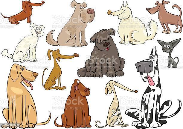 Cartoon dogs or puppies big set vector id159252826?b=1&k=6&m=159252826&s=612x612&h=yze7wgiiginz73g2dvr igfu7b m7mpfthscj n sgi=