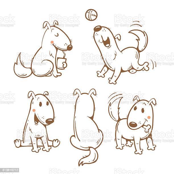 Cartoon dogs set vector id513815212?b=1&k=6&m=513815212&s=612x612&h=xwk14hh 5szcg41qhpykj nqxo51zuj09b1rf1dgxye=