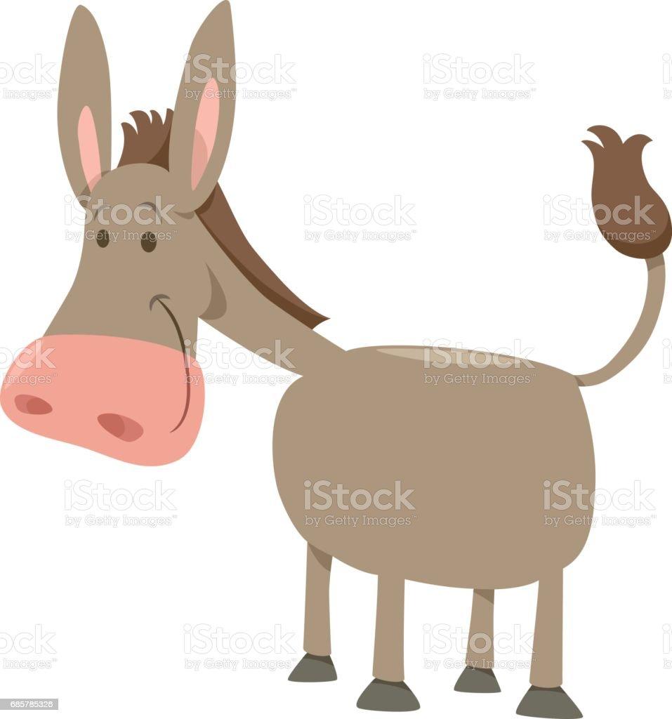 cartoon donkey farm animal - illustrazione arte vettoriale