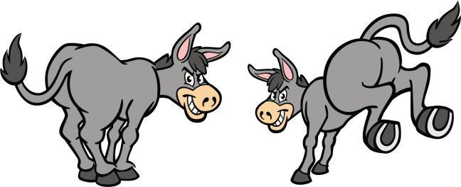 Cartoon Donkeys