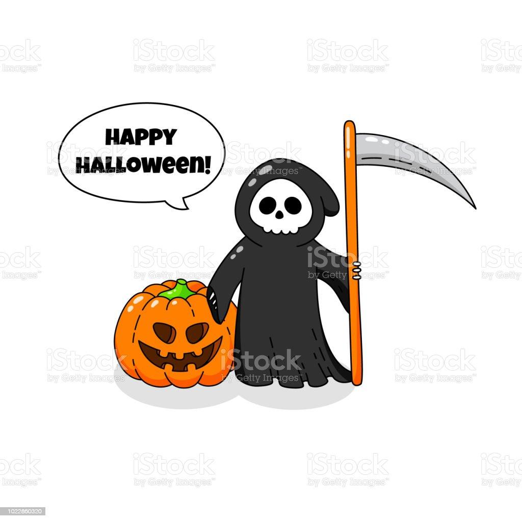 Sjabloon Halloween.Cartoon Doodle Kaart Vrolijke Halloween Achtergrond Behang