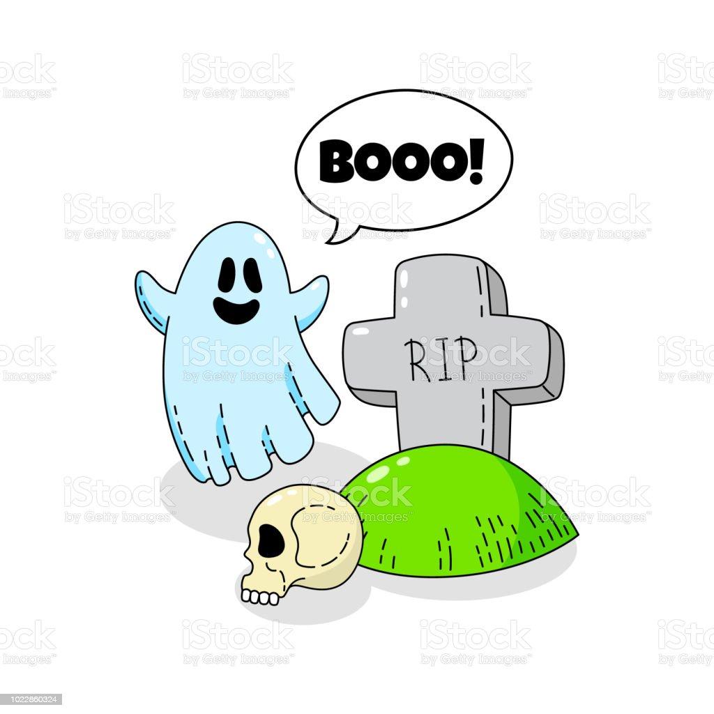 Cartoon Doodle Card Happy Halloween Background Wallpaper