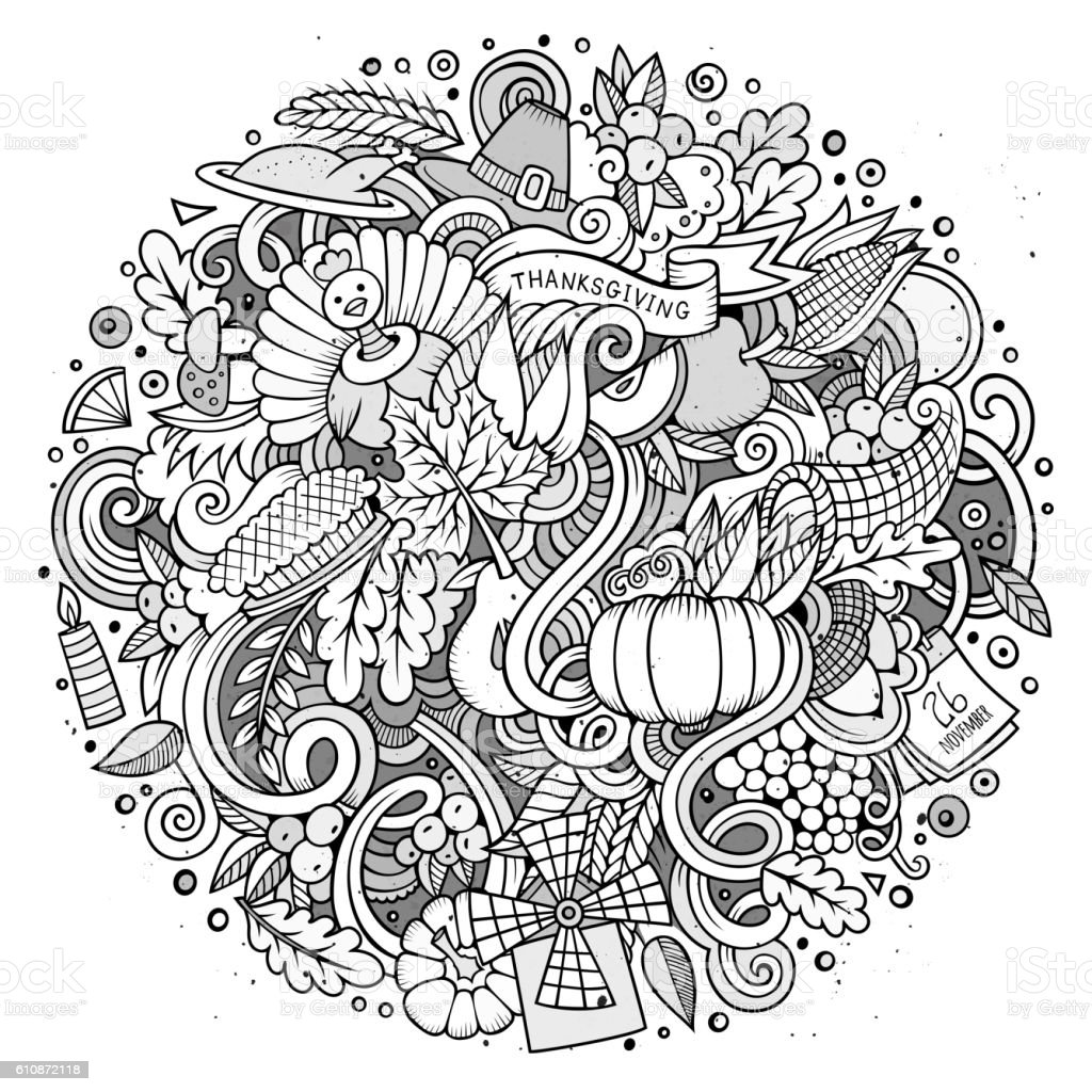 thanksgiving abstract coloring pages - photo#7