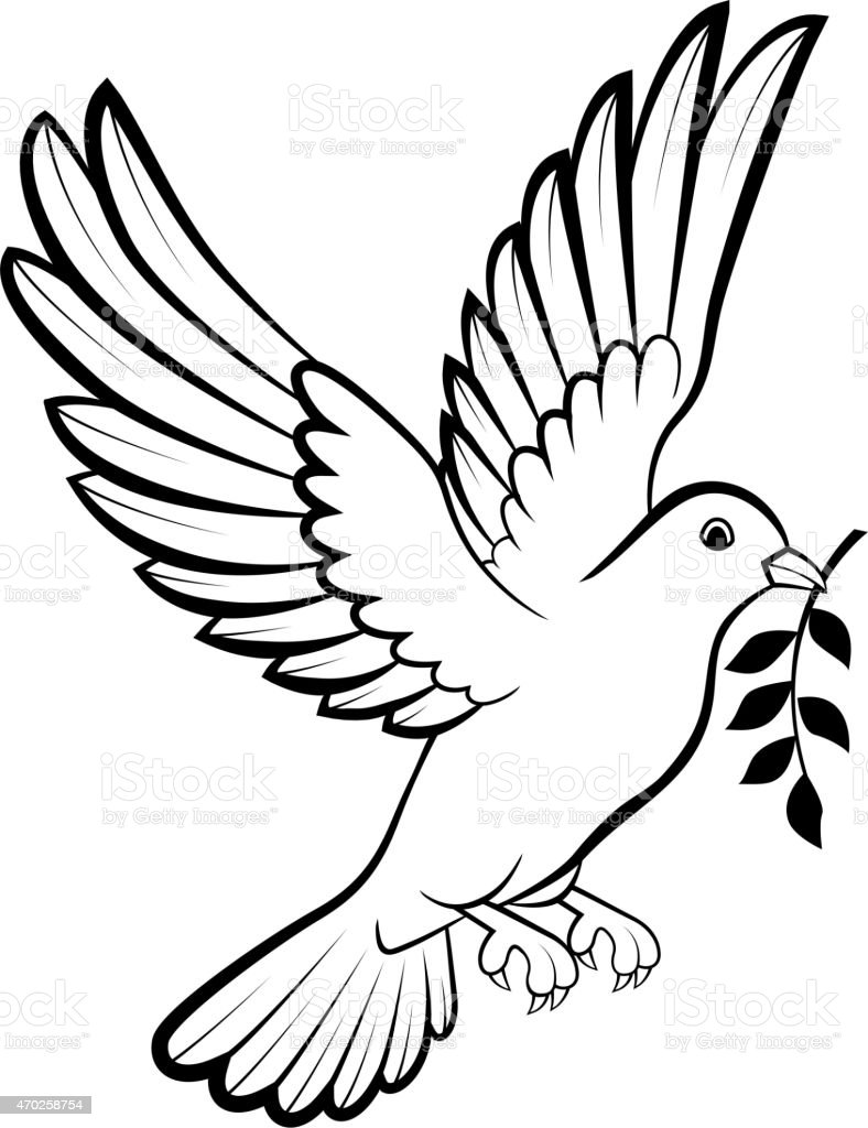 Cartoon Dove Birds Logo For Peace Concept And Wedding Design Stock Vector Art U0026 More Images Of ...