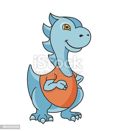 Cartoon dragon or dinosaur character